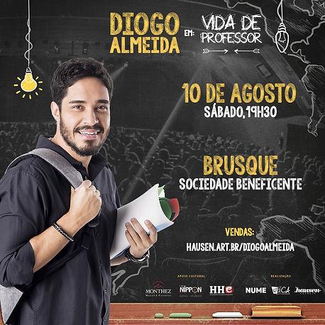 Diogo Almeida Vida de Professor Brusque
