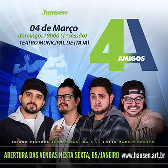 Afonso Padilha 4 Amigos Joinville stand up comedy