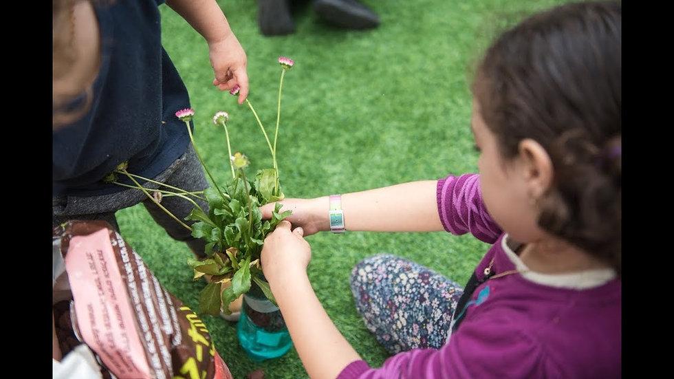 סדנה להכנת עציץ הידרופוני