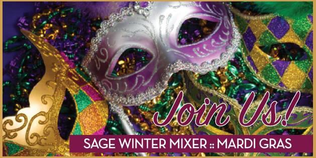 Sage Mardi Gras Winter Mixer