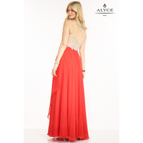 Alyce red, crystal prom gown, size 10 | Adrienne\'s Premier ...