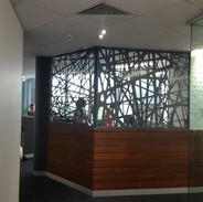 Office reception screen