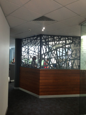 Office reception screen