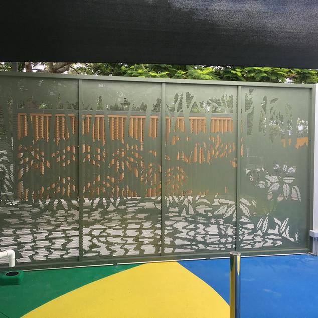 Aquatic centre fencing