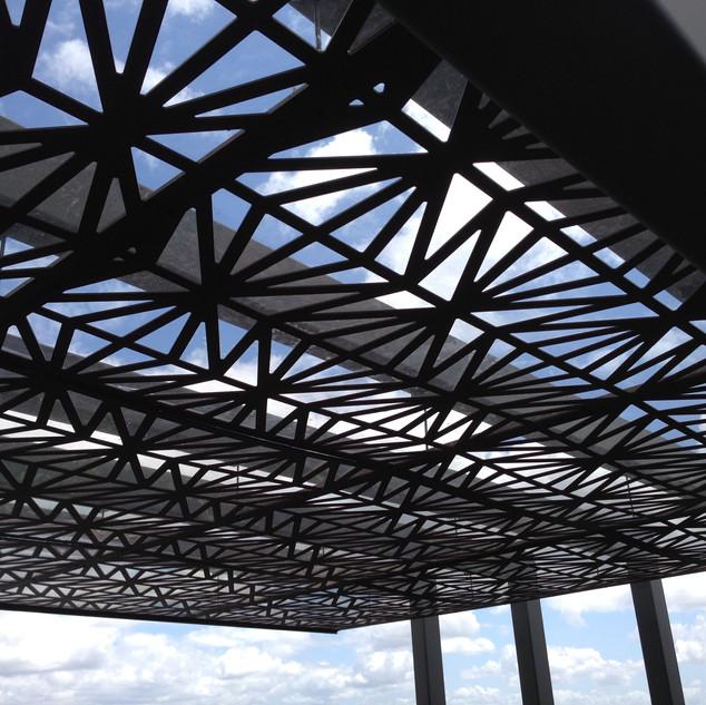 suspended ceiling pergola detail