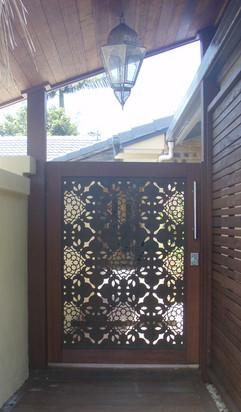 Fez - Entry gate, timber frame