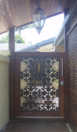 Fez - Entry gate, timber frame