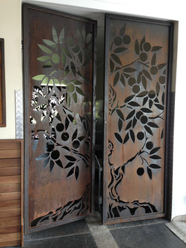 Rust finish doors