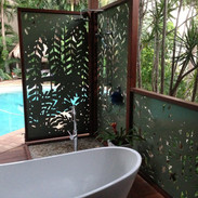 External bathroom screens