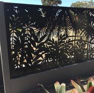 Screenart tropical fence panel