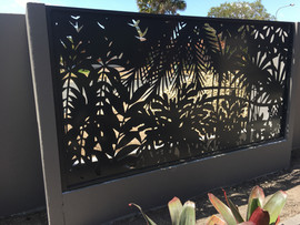 Tropical fence panel