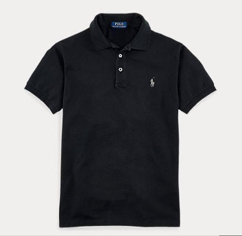 Polo stretch slim fit manche courte (3 boutons)