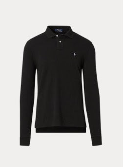 Polo manche longue stretch Slim FIT