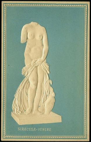 Venere Landolina - cartolina in bassorilievo
