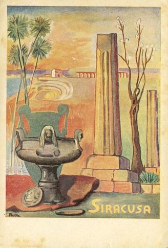 Siracusa - Dipinto di Giuseppe Betta