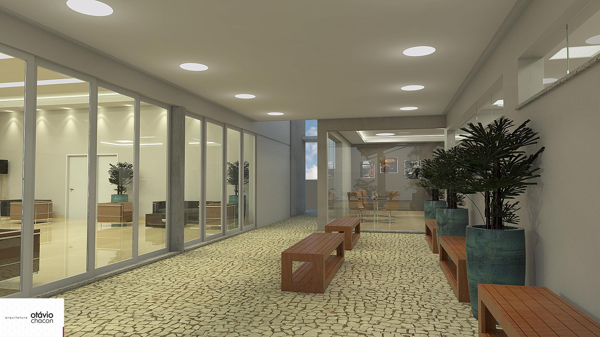 vista externa das salas