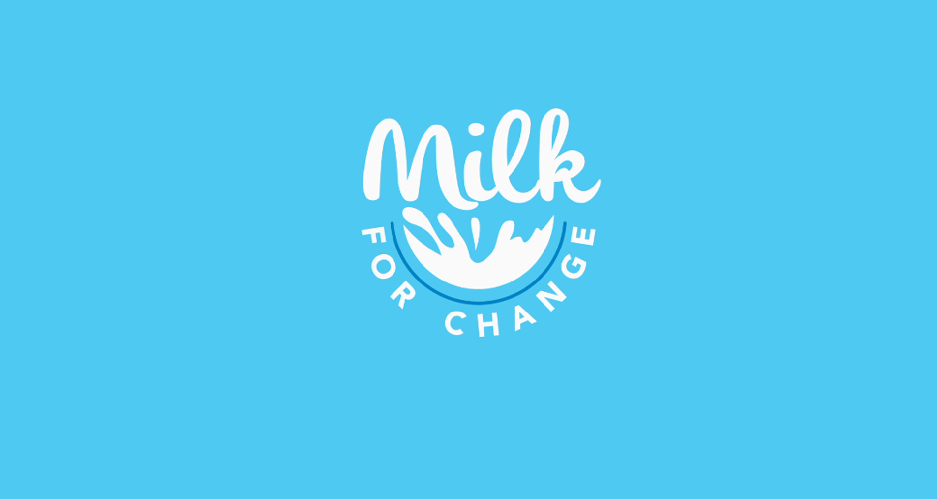 Milk for Change Logo Animation