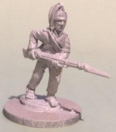 SVI 503 infantryman advancing, musket level, campaign uniform