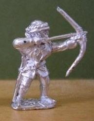 BBI 8 Longbowman, drawing bow, wearing kettle hat