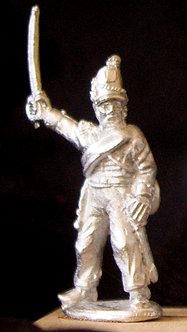 WAA 220Officer, standing, raised sword, 1813 uniform