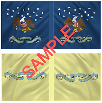 War of 1812 Flag sheet 1202-American 11th Regiment