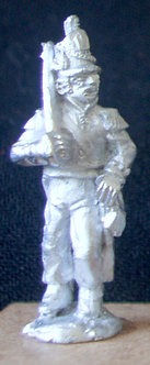 WAA 201Officer advancing, shouldered sword, 1813 shako