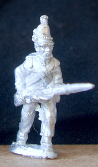 WAA 208Infantry advancing, levelled musket, 1813 shako, roundabout