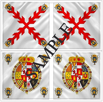 Liberators flags Sheet 1151 Royalist Generic Regimental flags