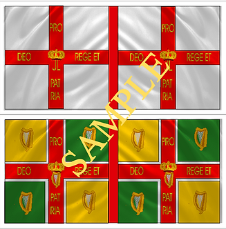 Jacobite Flag sheet 8 Galmoy's  Regiment