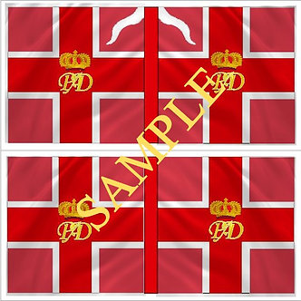 Williamite Flag sheet 57 Beaumont's Regiment