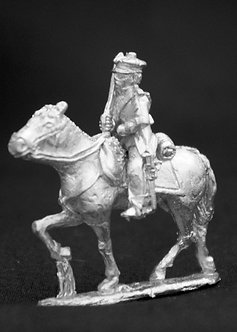 SAC 220 Mounted trooper with shouldered sword, wearing fatigue cap