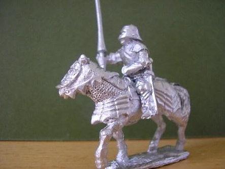 BBC 100 Gendarme wearing sallet on armoured horse