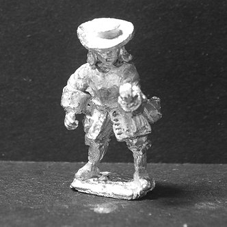 GRE5 Pikeman , standing, wearing breastplate, check pike