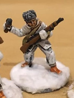 WWF 21 Infantryman throwing grenade, wearing snowsuit