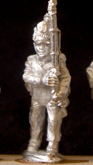 WAA 222Infantry marching, supported musket, 1813 uniform