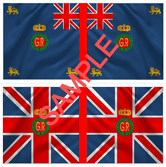 War of 1812 Flag sheet 1253-British 4th Regiment