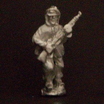 WWF 11  Infantryman running, holding rifle wearing snowsuit