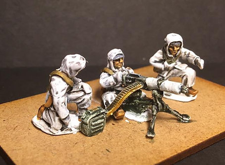 WWF 30  maxim machine gun with three crew