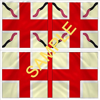 Williamite Flag sheet 51 Churchill's  Regiment