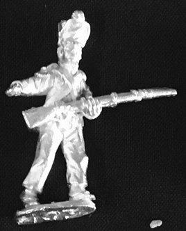 SRI 103 Infantry Sergeant advancing, wearing short jacket and shako