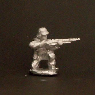 WWF 10  Infantryman kneeling, firing rifle, wearing snowsuit and helmet