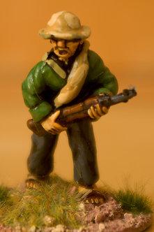 VVC 103 Infantryman, advancing, wearing jungle hat, holding SKS rifle
