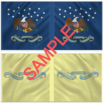 War of 1812 Flag sheet 1204-American 25th Regiment