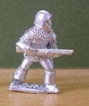 BSI 56  Handgunner, ready to fire, wearing barbute