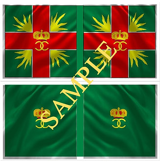 Williamite Flag sheet 50 Kirke's  Regiment