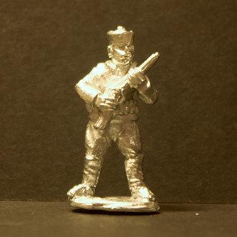 TII 54 Matchlock man, standing, porte arms.