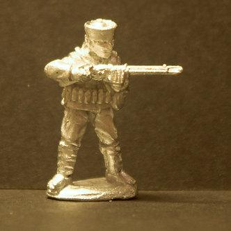 TII 55 Matchlock man, standing, firing.