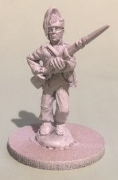 SVI 501 infantryman walking, musket forward, campaign uniform