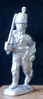 WAB 1Officer advancing, shouldered sword, stovepipe shako