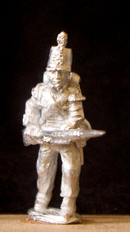 WAB 12Flank Coy. advancing, levelled musket, stovepipe shako